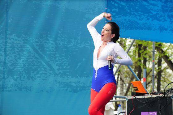 Анастасия Раинская на Московском фестивале футбола